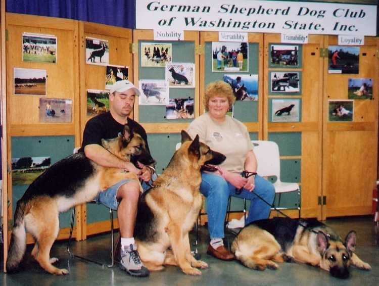 Jeremy and Amanada with Jade, Kaiser and Fritz