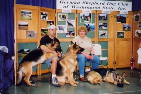 Jeremy and Amanda with Jade, Kaiser and Fritz